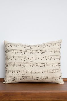 Musical Notes Pillow | Melody Notes Gift | Music Lover | Piano Gift | Sheet Music | Music Accent Pillow Decor | Gifts for Musicians