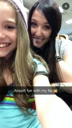 Kenzie at the airport yesterday