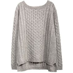 KISSING CABLE PULLOVER (495 PAB) ❤ liked on Polyvore featuring tops, sweaters, shirts, pullover sweater, cable pullover, chunky cable knit sweater, cable knit pullover sweater and pullover tops