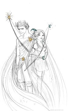 Artemis and Apollo are probably the greatest twin bros pair in Greek mythology… I wouldn't dare mess with them! (Pssst! Queen Ni...