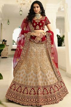 Buy party wear lehenga choli online for women. Grab this art silk embroidered, lace, resham and zari work lehenga choli for bridal, reception and wedding. Ghagra Choli, Bridal Lehenga Choli, Silk Lehenga, Lehenga Wedding, Rohit Bal, Choli Designs, Lehenga Designs, Art Marron, Designer Bridal Lehenga