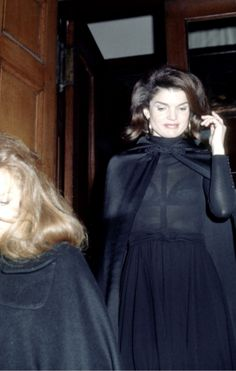 Jacqueline Kennedy Onassis looking chic in black