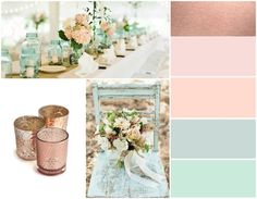 Pink Rose Gold Wedding Color Schemes wedding color palette inspiration blush and bow ties amandas we Rose Gold Color Palette, Gold Color Palettes, Gold Color Scheme, Colour Schemes, Wedding Colour Palettes, Color Combinations, Rose Gold Colour, Blush Wedding Palette, Peach Palette