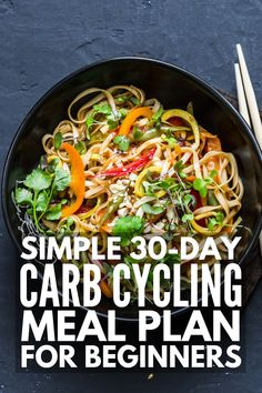 Carb Cycling for Women If you're looking for simple weight loss that WORKS, we're sharing everything you need to know about the carb cycling diet – the basic rules, our favorite tips for success, a complete menu with over 150 carb cycling recipes Weight Loss Meals, Easy Weight Loss, How To Lose Weight Fast, Low Fat Diets, No Carb Diets, Carb Cycling Meal Plan, Low Carb Meal Plan, Diet Meal Plans, Keto Meal