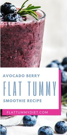 Avocado Blueberry Flat Tummy Smoothie recipe to lose belly fat. Low Carb Diet Plan, Weight Loss Diet Plan, Lose Weight, Fat Burning Drinks, Fat Burning Foods, Upper Stomach Fat, Flat Belly Smoothie, Flat Tummy Diet, Banana Drinks