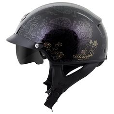 TheScorpion EXO-C110 Helmet packs the classic half helmet with modern features like an EverClear anti-fog faceshield, SpeedView drop down sun visor and dual EPS liner.