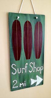 Crafty Surf = Crafts + Surf: DIY Surf Sign Art