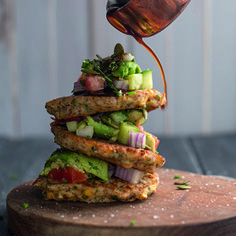 I Quit Sugar - Corn Fritters with Avocado Salsa