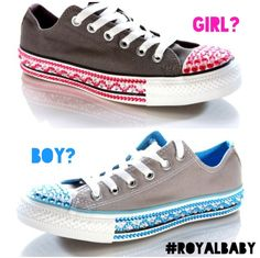Exciting news to kick off the week! With the royal baby's arrival expected today what do you think - Boy or Girl? #Stickcons have become very popular baby shower gifts  get yours at Schuh.co.uk #BlueorPink #BoyorGirl #royalbaby #babyshower #gifts #custombling #sneakers  Baby Arrival, Exciting News, Babyshower, Baby Shower Gifts, Boy Or Girl, Kicks, Converse, Popular, Facebook