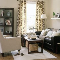 dark brown couch living room decor | Relaxed modern living room | Living room furniture | Decorating ideas ...