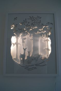 Shadow box ideas paper cut Handmade paper diorama Paper Cut Art Light Boxes
