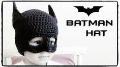 Batman Hat Crochet - ALL SIZES. Tutorial on how to crochet a BATMAN HAT batman beanie. We learn to crochet the batman mask and pointy ears. ***MATERIALS*** - Semi-thick yarn (number - 4 to 5 mm hook (US to US - cardboard - scissors - yarn needle Crochet Baby Toys, Crochet Diy, Crochet Kids Hats, Crochet Beanie, Learn To Crochet, Crochet Crafts, Crochet Clothes, Crochet Projects, Crochet Mask