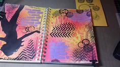 Art Journal Process: Be Bold..   30 minute fast forward video