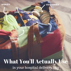 The Hospital Bag: What Real Moms Really Used | What To Pack For Labor + Delivery | Must Have Hospital Bag Items - MomTrends