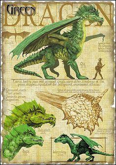 Green Dragon by Richard Sardinha Dragon Fantasy Myth Mythical Mystical Legend Dragons Wings Sword Sorcery  Magic