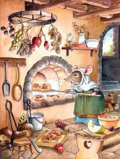 Художник-иллюстратор Gabriel Evans ||| mouse, mice, bread