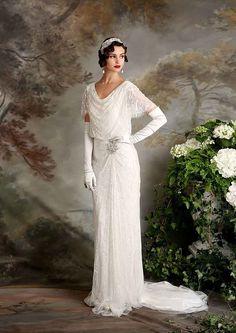 El vintage inspiró vestido de novia Eliza Jane Howell Florencia | www.onefabday.com