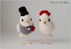 Crochet bird wedding cake topper crochet by HannahAspensbridal  $33 + $8.5 shipping = $41.5 combine shipping with pillow