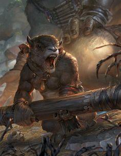 Monstros bebê minotauro