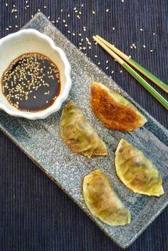 Mushroom and Leek Gyoza- ready to eat, vegan and Delicious little dumplings.