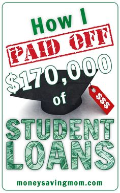How one woman paid off $170,000 in student loans -- such an inspiring post! A must-read if you need some motivation for getting out of debt! save money in college, fast ways to save money #collegelife