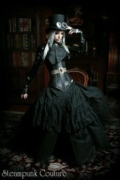 Steampunk, Gothic, outfit, dress up, roll play Moda Steampunk, Steampunk Couture, Viktorianischer Steampunk, Steampunk Clothing, Steampunk Fashion, Gothic Fashion, Look Fashion, Steampunk Dress, Steampunk Goggles