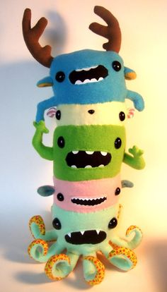 Monster Totem Pole by OopisNein on Etsy, $96.00