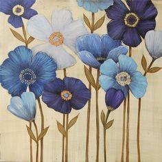 flowers. #blueandwhite I think miss E  would like these!
