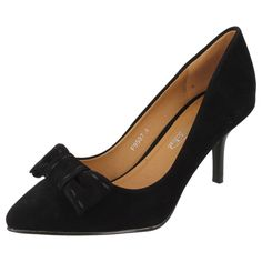LADIES SPOT ON SLIP ON COURT SHOES IN BLACK - STYLE - F9597