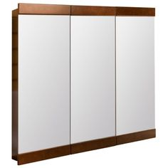 Framed Tri View Surface Mount Bathroom Medicine Cabinet In Java At The Home  Depot   Mobile