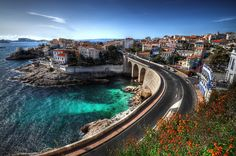 Drive this road, Marseille, France Places Around The World, Oh The Places You'll Go, Places To Travel, Places To Visit, Around The Worlds, Travel Destinations, European Vacation, Vacation Spots, Montecarlo Monaco