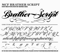 Type design pages for Andrey Chernevich. Tattoo Lettering Alphabet, Calligraphy Tattoo Fonts, Tattoo Lettering Styles, Graffiti Lettering Fonts, Tattoo Lettering Fonts, Hand Lettering Alphabet, Lettering Design, Cursive Tattoo Letters, Lettering Tutorial