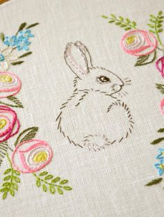 Easter bunny hand embroidery | Craftsy