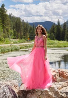 Prom Dresses by Morilee style 99042 size 10. This is a truly romantic and stylish Soft Tulle Prom Dress with Beaded Bodice and Open Back.
