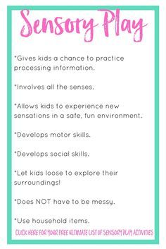 The Importance of Sensory Play | Sensory play is becoming a more popular term over the past few years. Today I talk about what sensory play is and how to incorporate it into your day. Click through to get a list of sensory play activities.