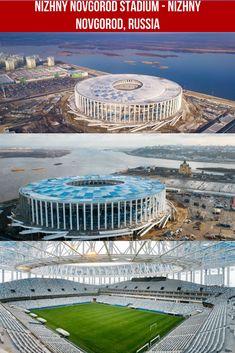 Nizhny Novgorod Stadium - Russia - AGC glass : façade uses Energy NT, iplus Energy N and Planibel Top N+T Sports Stadium, Stadium Tour, Nizhny Novgorod, World Cup Russia 2018, Sports Complex, Football Stadiums, Fifa World Cup, All Over The World, Facade