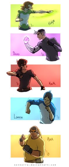 Sketches of the Day - Voltron Paladins Training by SolKorra.deviantart.com on @DeviantArt