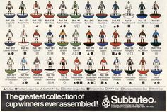 """""""The greatest collection of cup winners ever assembled!"""" Subbuteo advertisement from 1980"""