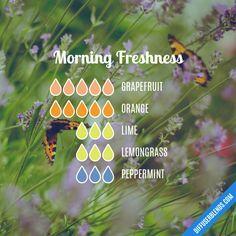 Morning Freshness - Essential Oil Diffuser Blend