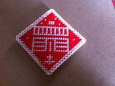 Plastic Canvas House Diamond Magnet by ritascraftsandmore on Etsy