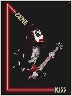 Kiss-Gene by heathdro on DeviantArt Music Artwork, Art Music, Rock N Roll Music, Rock And Roll, Fearsome Foursome, Kiss World, Kiss Concert, Eric Carr, Rock Poster