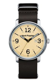 Pria > Jam Tangan > Jam Tangan Kasual > Hush Puppies Multifunction Men's Watch HP 3789M.2519 Cream Silver Black Leather > Hush Puppies Watches