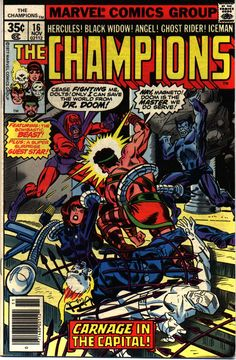 The Champions #16 cover by Gil Kane