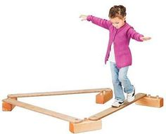 Balancing Boards Designed to improve children's muscular co- ordination, the 3 plywood boards can be Creative Activities For Kids, Indoor Activities For Kids, Projects For Kids, Diy For Kids, Wood Projects, Outdoor Learning Spaces, Plywood Board, Wood Block Crafts, Balance Board