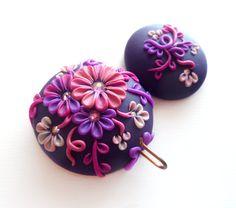 Portuguese Knitting Pin, Magnetic Portuguese Knitting Pin, Knitting Hook, Handmade Knitting Pin, Shades of Purple