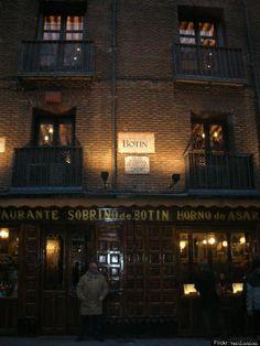 Oldest restaurant: Botin Restaurant – Madrid, Spain.  Dating back to 1725.
