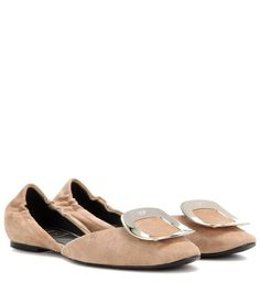 ROGER VIVIER Chips Suede Ballerinas. #rogervivier #shoes #flats