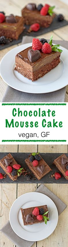 a ‪vegan‬ indulgence - ‪Chocolate‬  ‪Mousse‬ ‪‎Cake‬. No need to hold anything back. It's full of healthy ingredients from ‪gluten free‬ flours to raw cocoa. Consider this a perfect dessert and sweet indulgence for you to enjoy.
