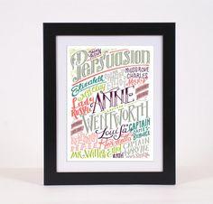 Jane Austen  Persuasione  personaggi e luoghi 320 di PemberleyPond, €15.00