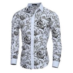 Cheap shirt hollister, Buy Quality shirt brazil directly from China shirt sample Suppliers: Elegant Noble Floral Prints Men Shirt Fashion Mens Shirts Long sleeve Slim Fit Casual Social Camisas Masculinas Chemise homme Floral Shirt Dress, Long Sleeve Floral Dress, Long Sleeve Shirt Dress, Long Sleeve Shirts, Flower Shirt, Slim Fit Dress Shirts, Slim Fit Dresses, Fitted Dress Shirts, Camisa Social Florida